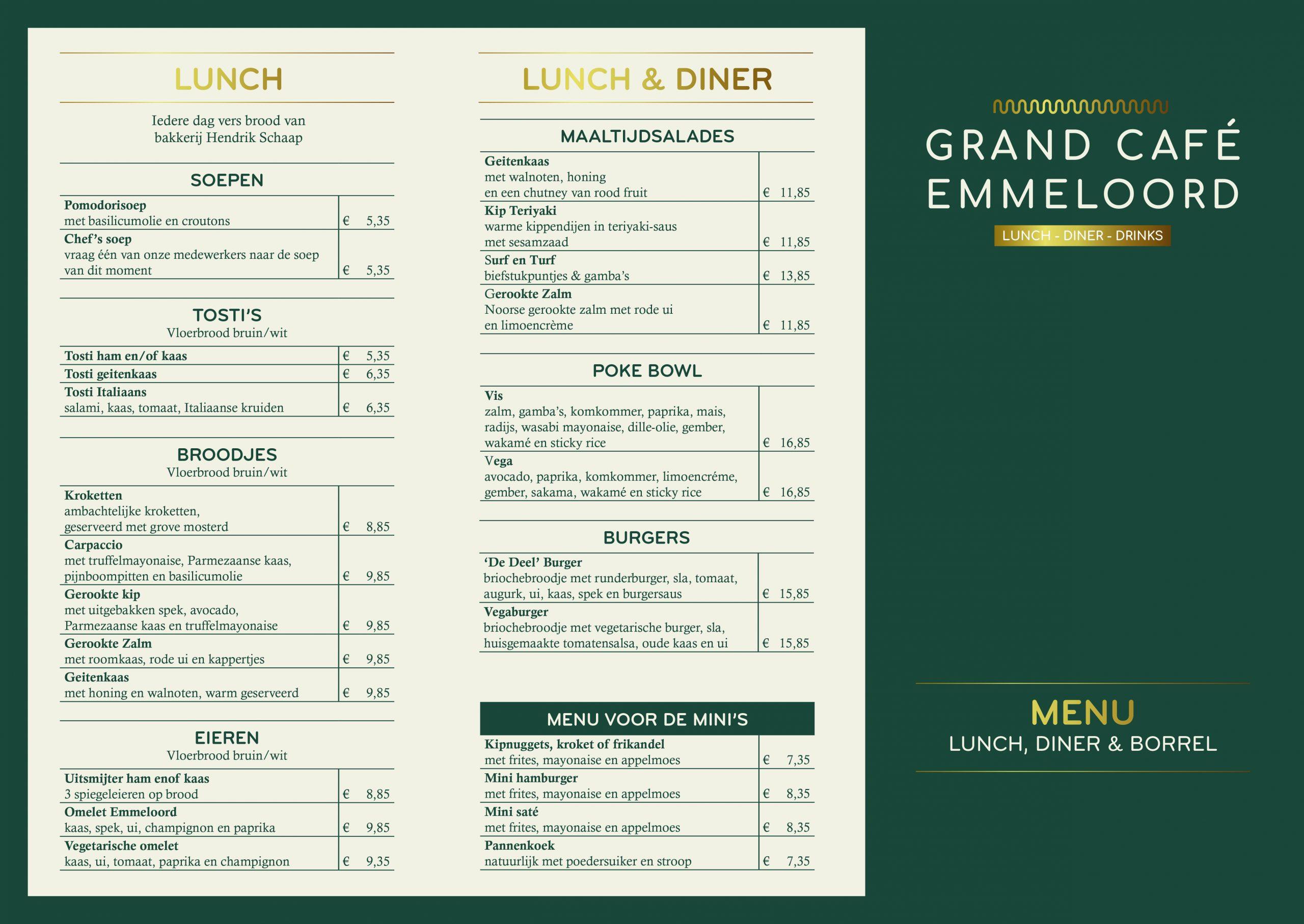 Grand Cafe emmeloord menukaart 1