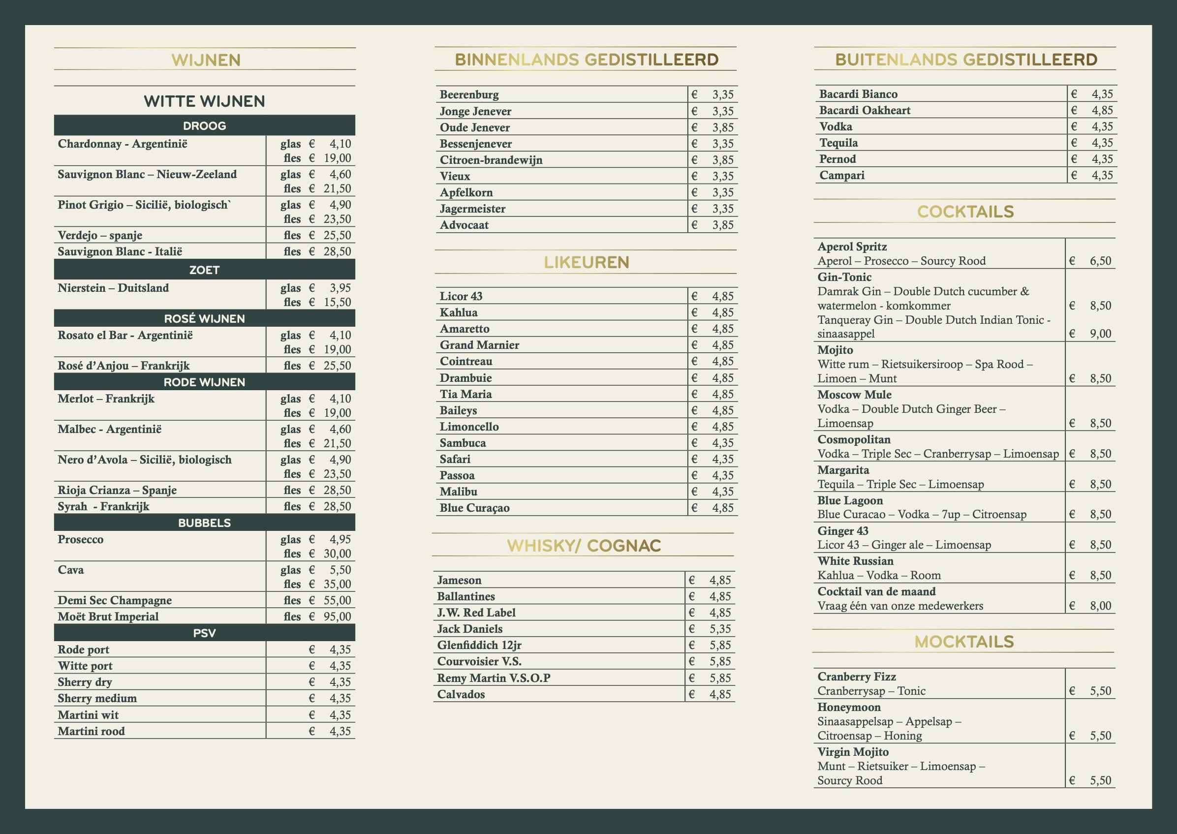 Drankenkaart grand cafe emmeloord 2